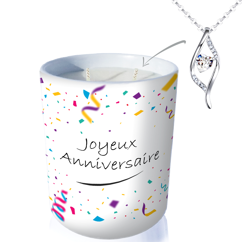 Bougie-Bijou une bougie artisanale et un bijou avec cristal ...